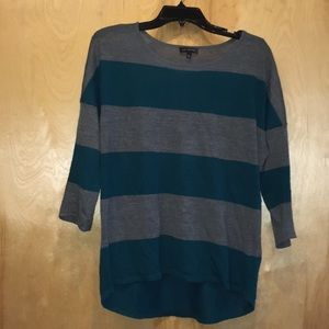 The Limited gray and teal top